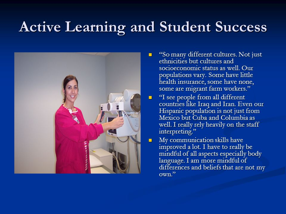 Active Learning and Student Success