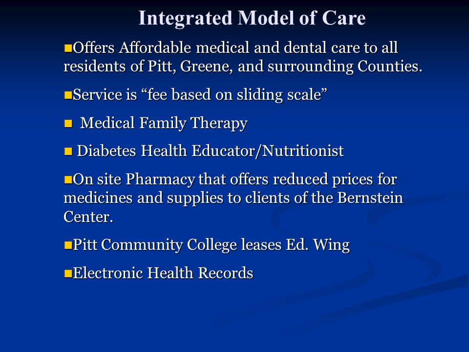 Integrated Model of Care