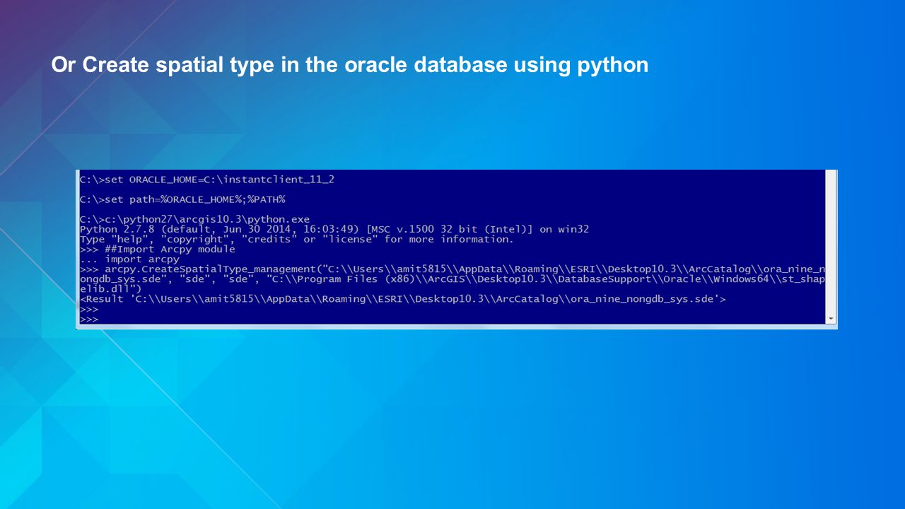 how to create database in oracle 10g using sql command