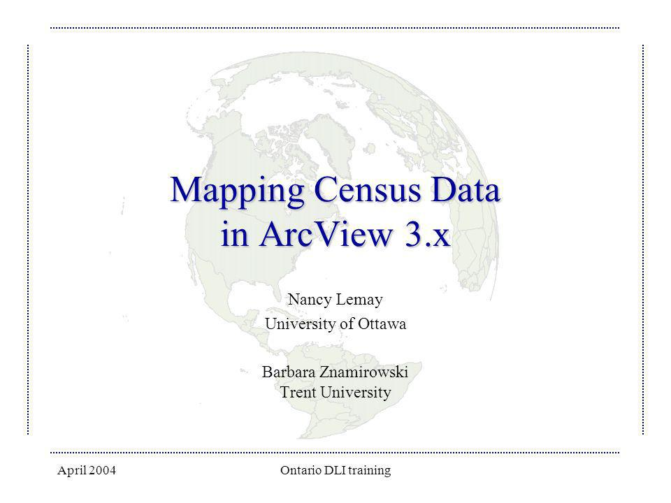 Mapping Census Data in ArcView 3.x