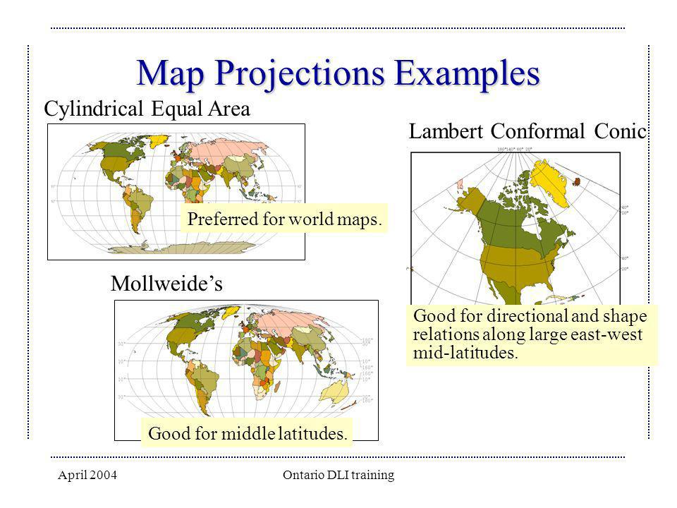Map Projections Examples