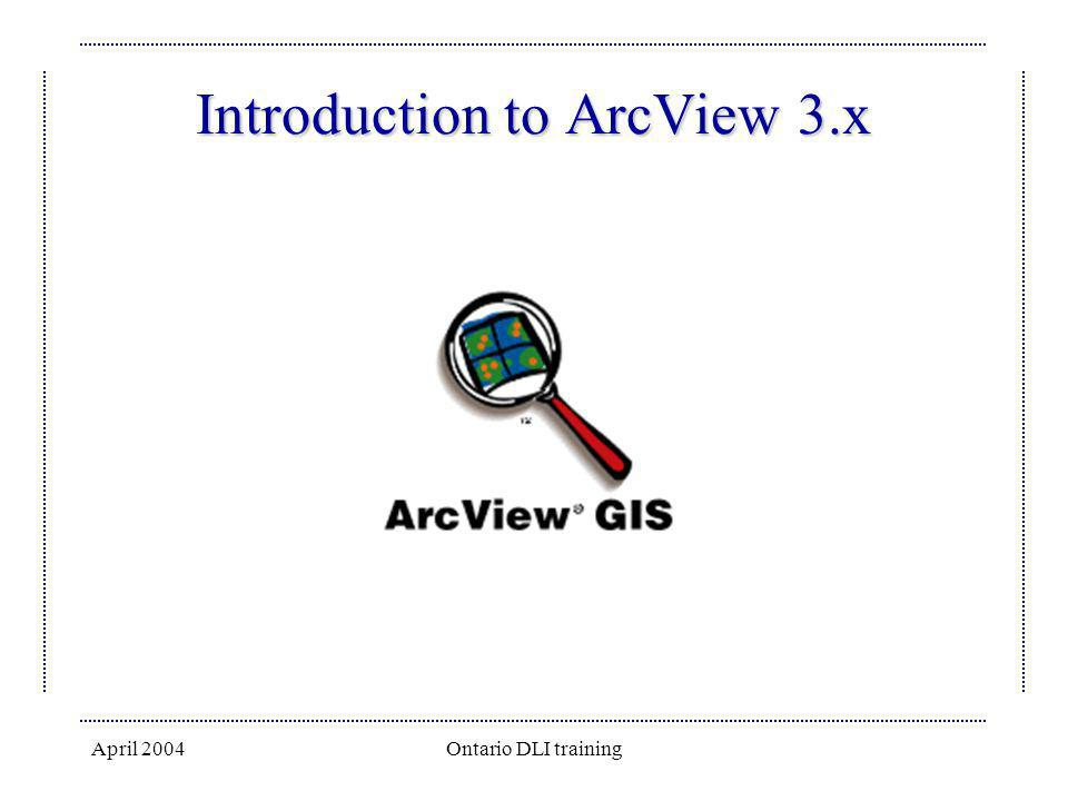 Introduction to ArcView 3.x