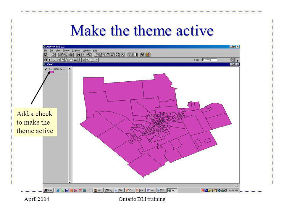 Make the theme active Add a check to make the theme active April 2004