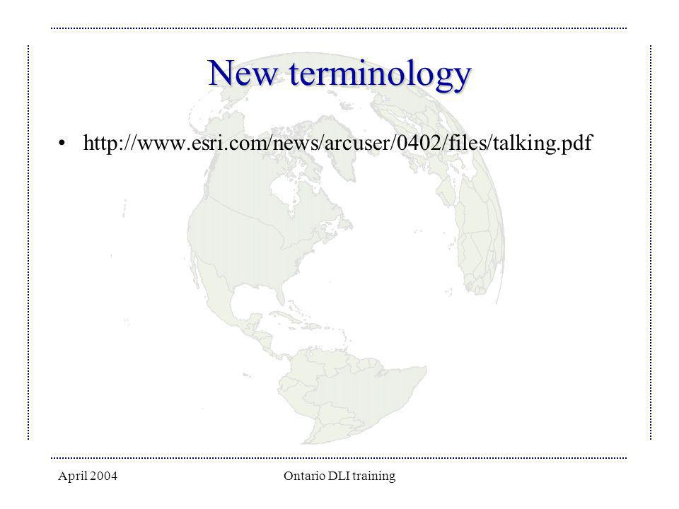 New terminology http://www.esri.com/news/arcuser/0402/files/talking.pdf.