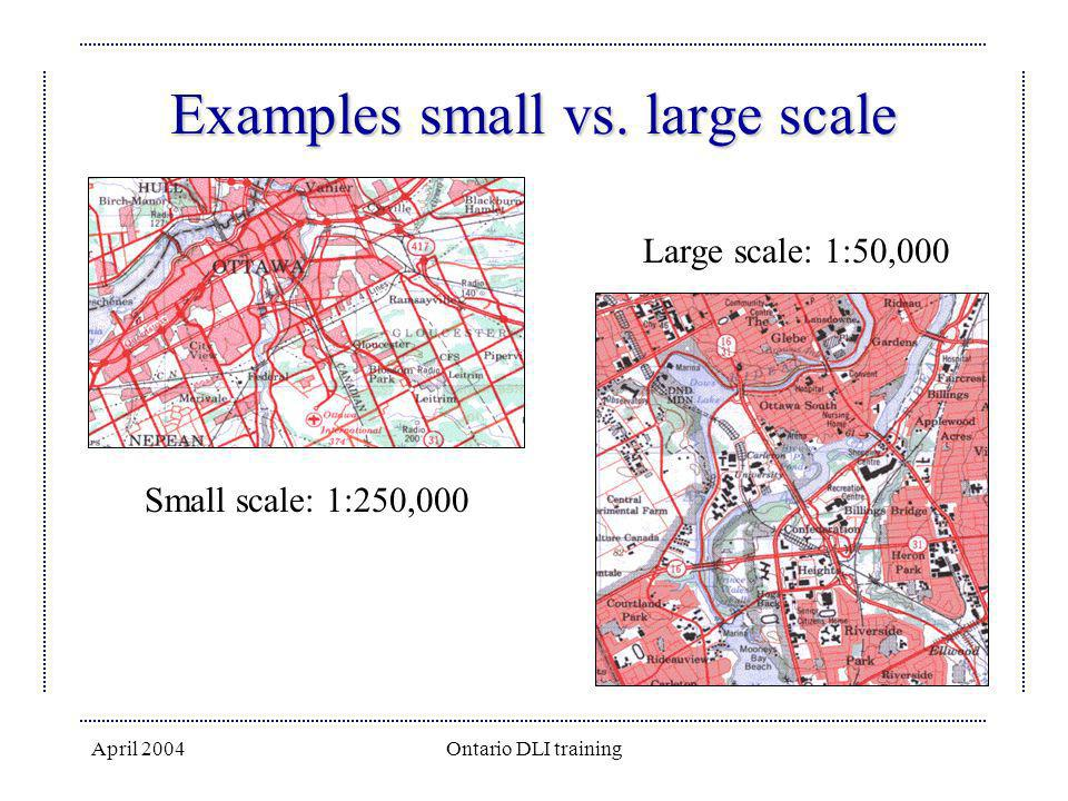 Examples small vs. large scale