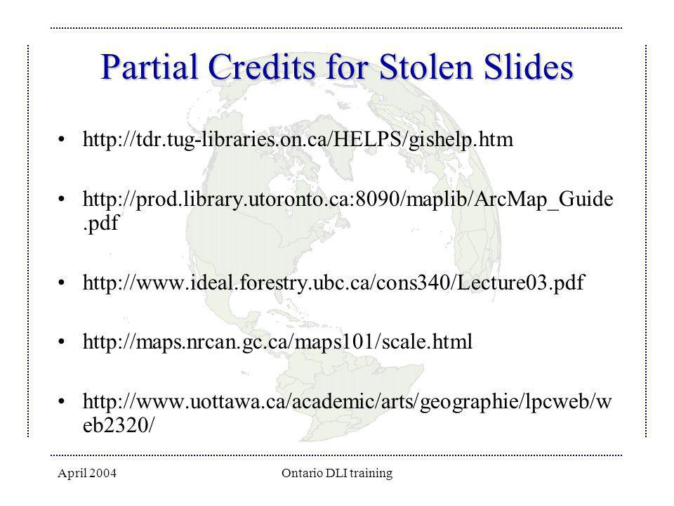 Partial Credits for Stolen Slides