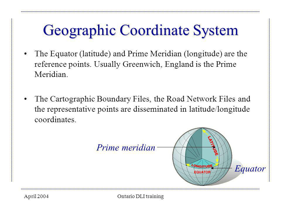 Geographic Coordinate System