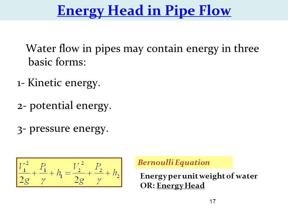 head loss in pipe flow pdf