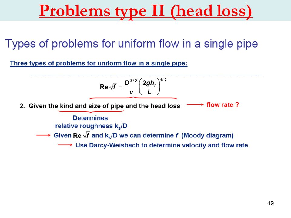Chapter 1 water flow in pipes ppt video online download 49 problems type ii head loss ccuart Image collections