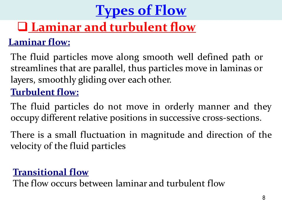 Streamline Flow - Laminar Flow And Turbulent ... - Physics