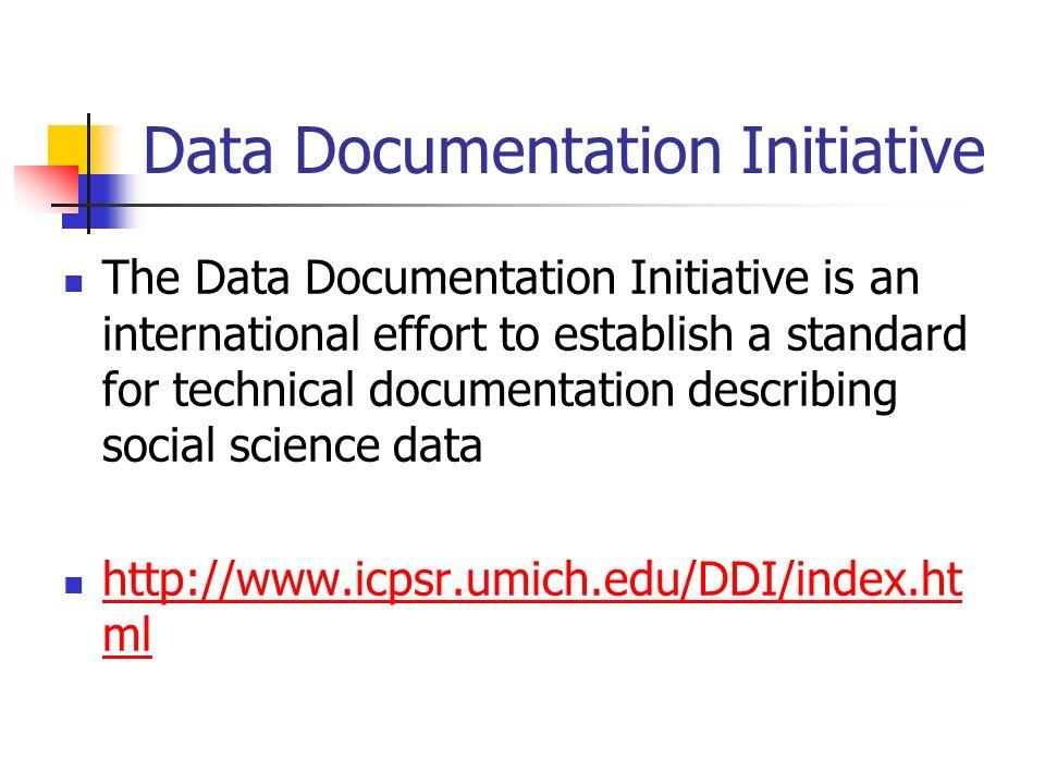 Data Documentation Initiative