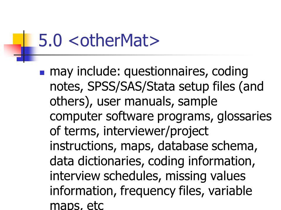 5.0 <otherMat>