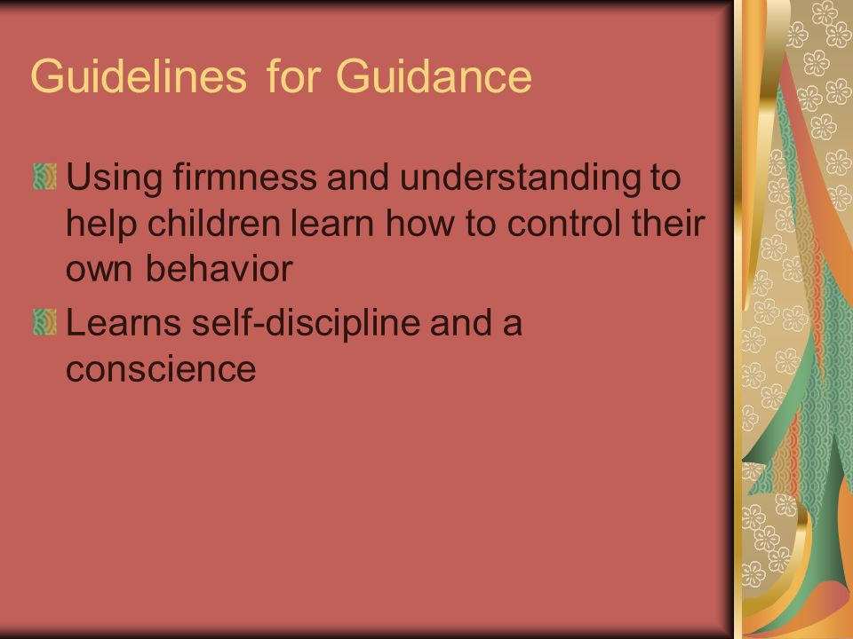 Guidelines for Guidance