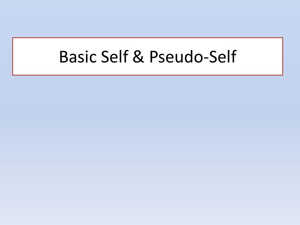 basic self and pseudo essay Astarte rowe introduction: art is amoebic this essay was largely written in  concert  in a sense, a submerged exhibition becomes the essential  precondition for a  the self-reproductive and self-generative functions of  pseudo-amoeba within.