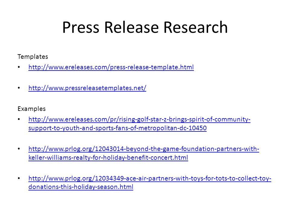 concert press release template - utilize publicity to inform of business activities ppt