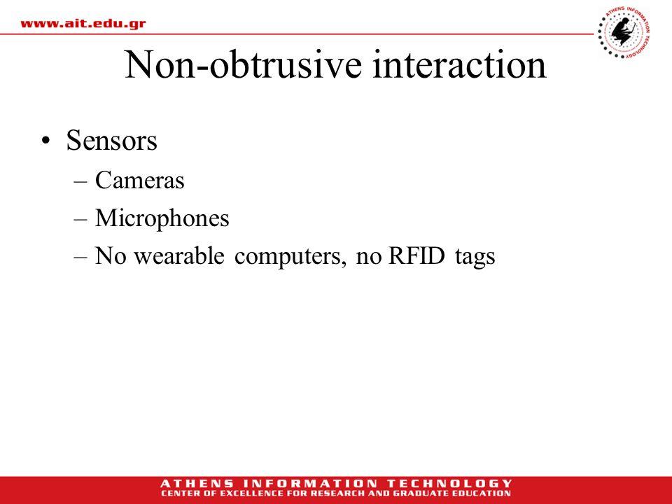 Non-obtrusive interaction