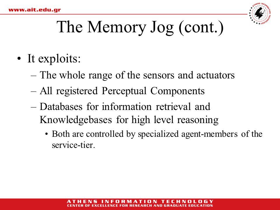 The Memory Jog (cont.) It exploits: