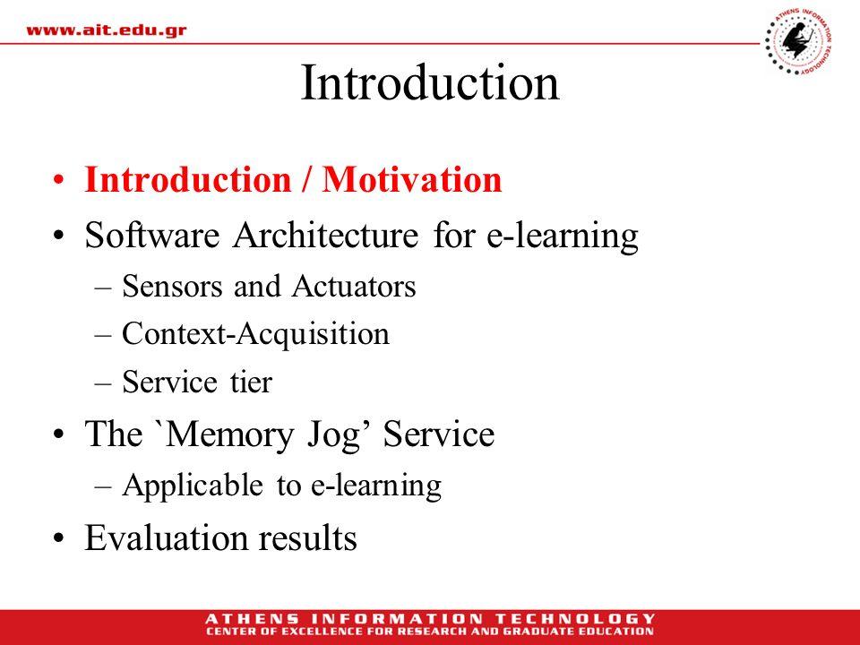 Introduction Introduction / Motivation