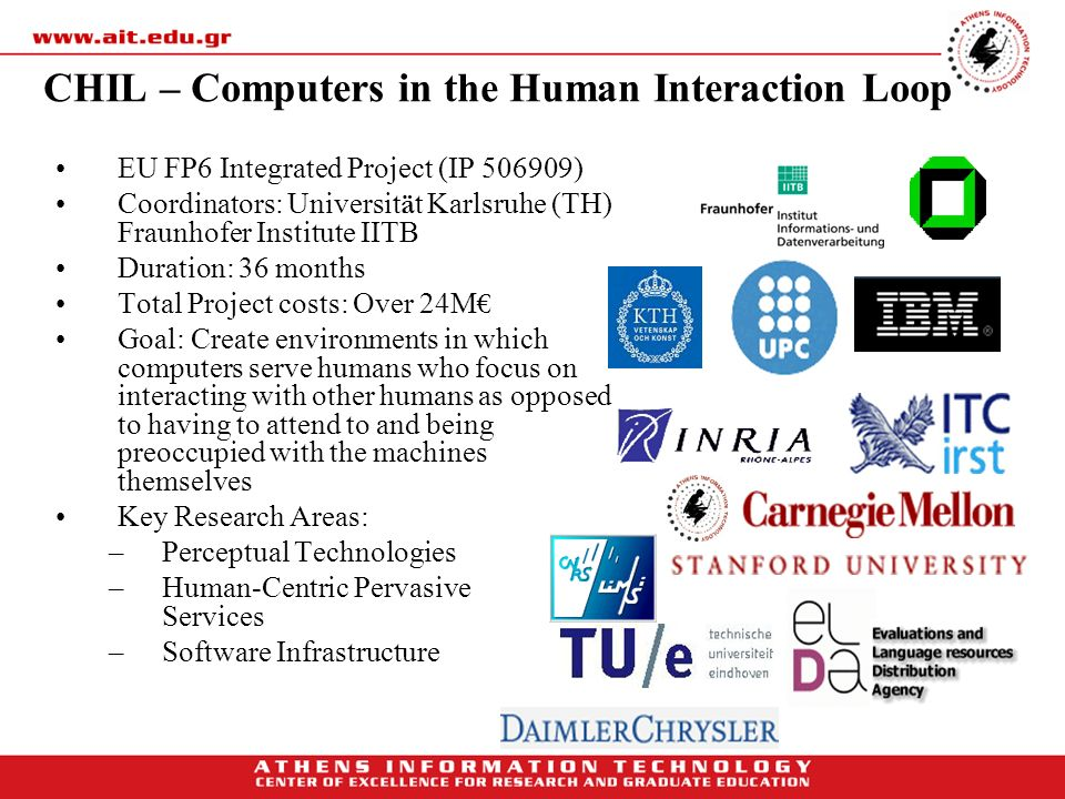 CHIL – Computers in the Human Interaction Loop