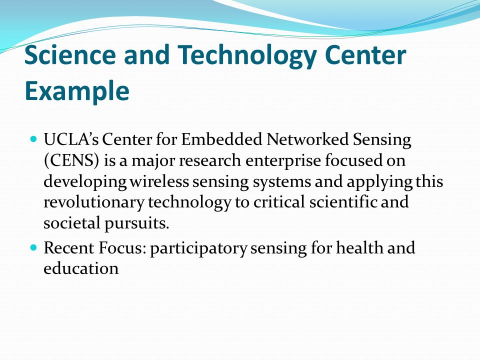 Science and Technology Center Example