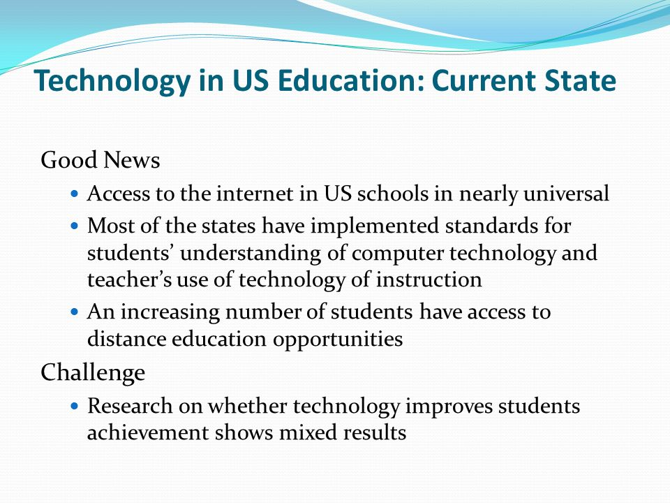Technology in US Education: Current State