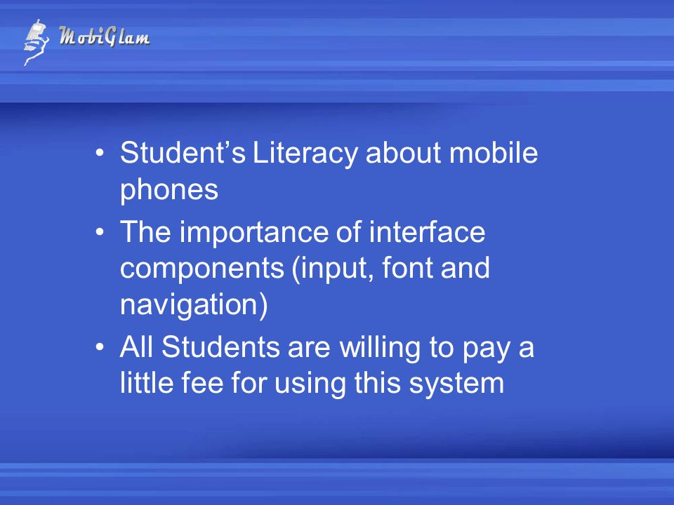 Student's Literacy about mobile phones