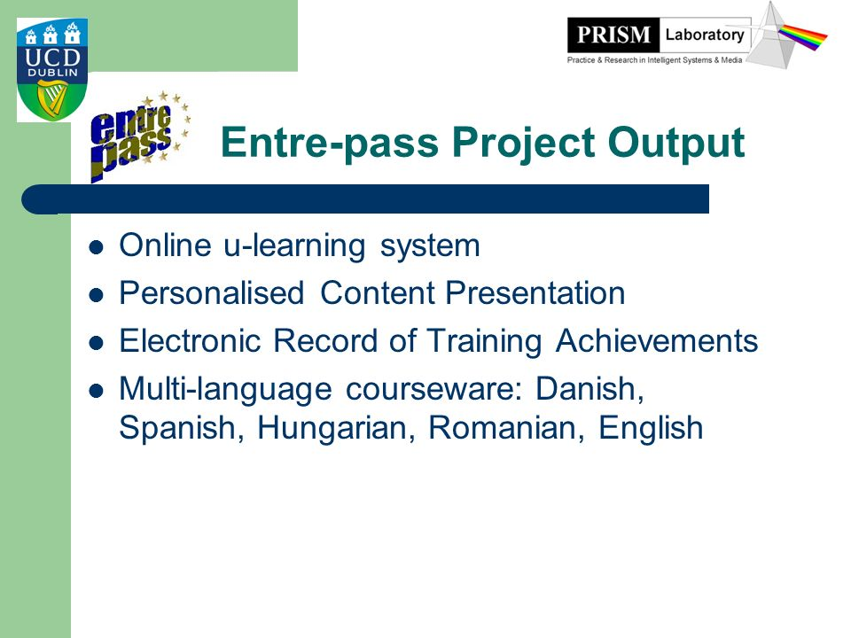 Entre-pass Project Output