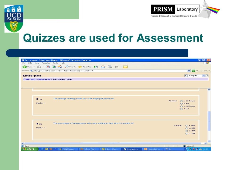 Quizzes are used for Assessment
