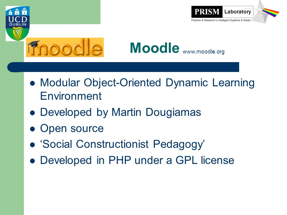 Moodle Modular Object-Oriented Dynamic Learning Environment