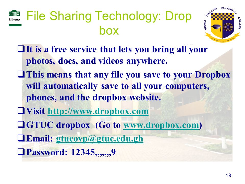 File Sharing Technology: Drop box