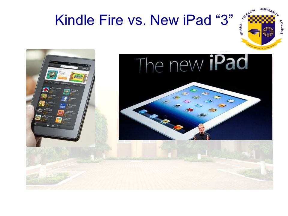 Kindle Fire vs. New iPad 3