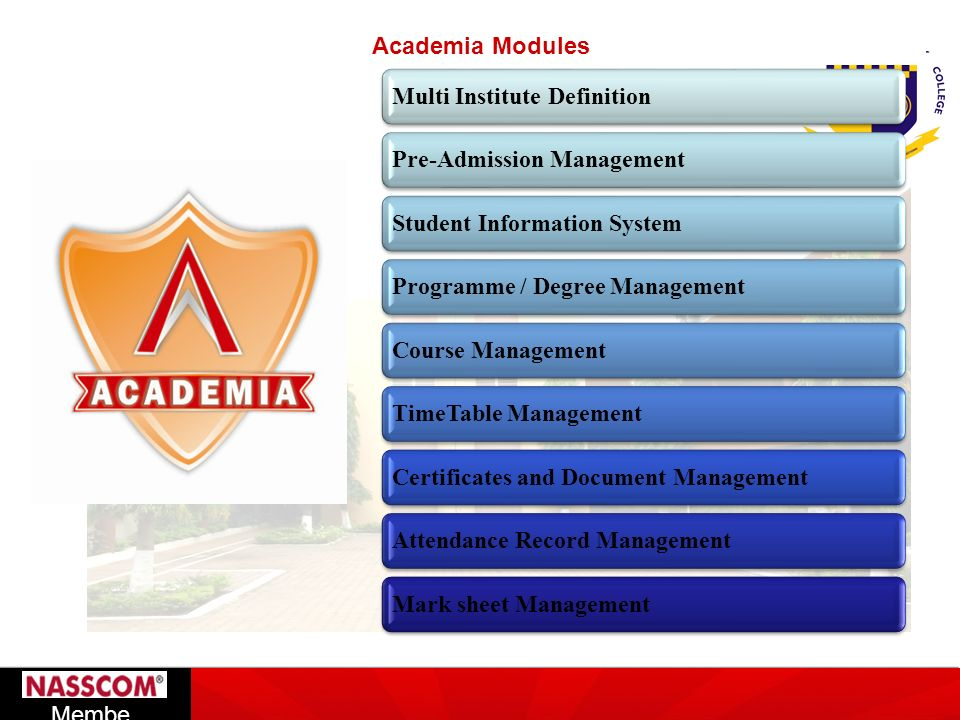Academia Modules Multi Institute Definition. Pre-Admission Management. Student Information System.