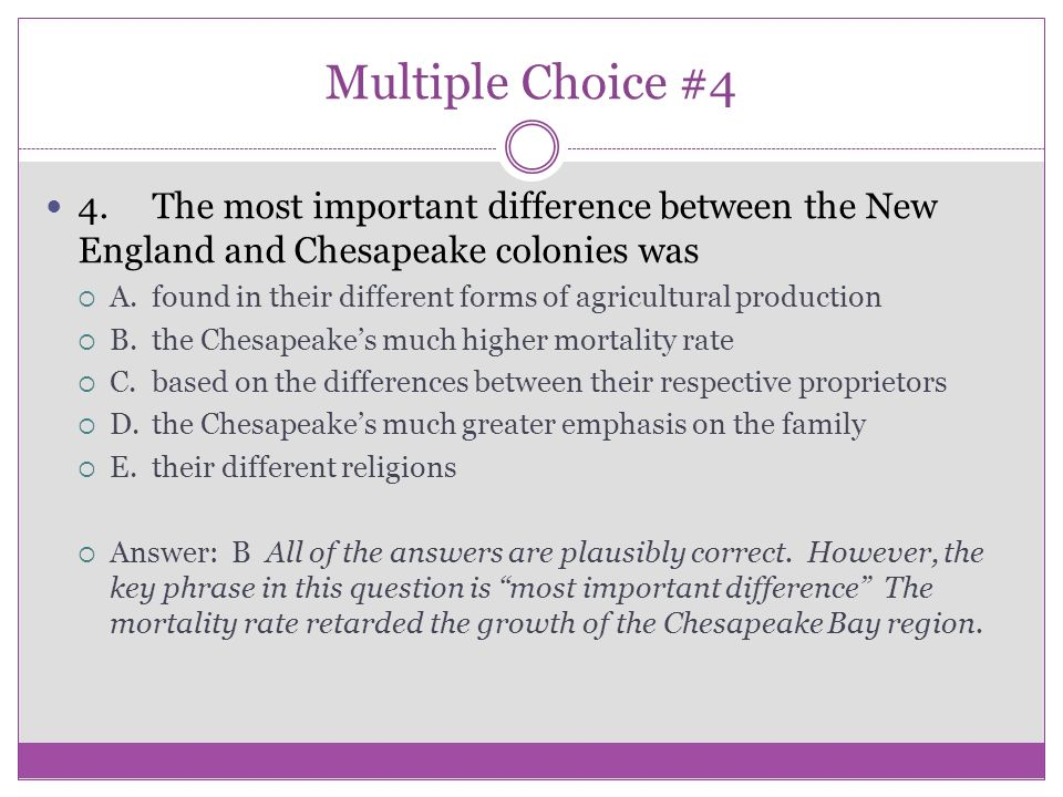 difference between chesapeake and new england Differences between new england and chesapeake colonies doc essayswhen the colonists settled america, many of them had different reasons, beliefs, and accomplishments to set for themselves.