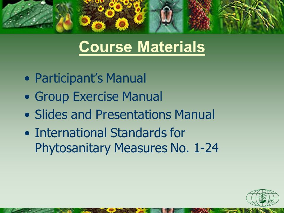 Course Materials Participant's Manual Group Exercise Manual