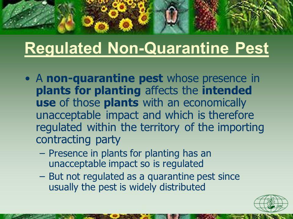 Regulated Non-Quarantine Pest