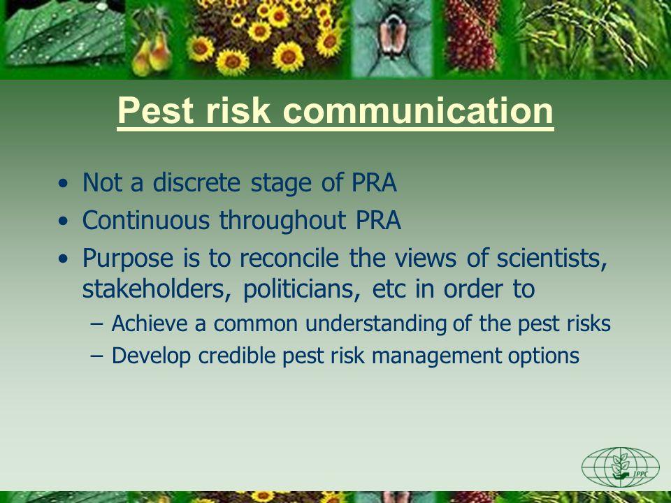 Pest risk communication