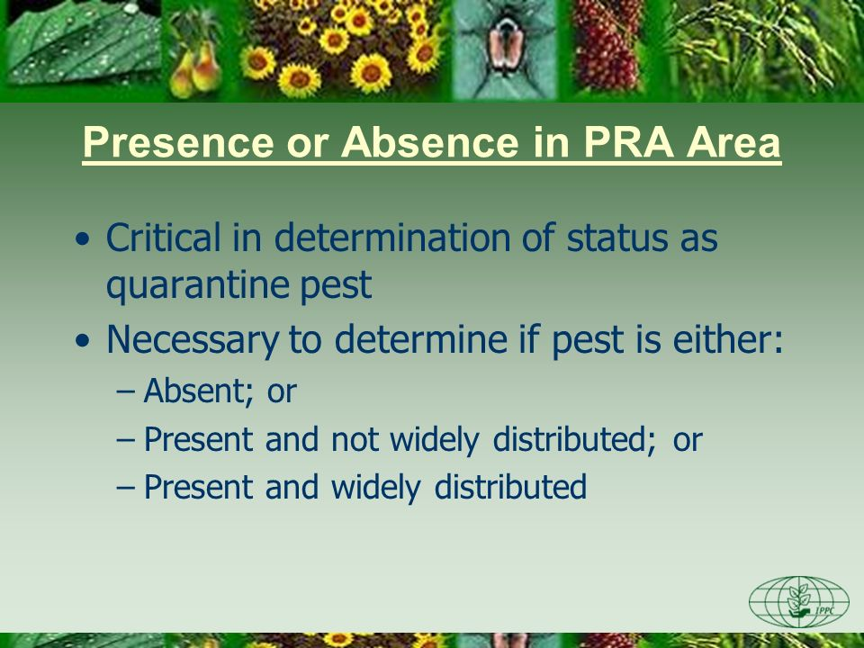 Presence or Absence in PRA Area