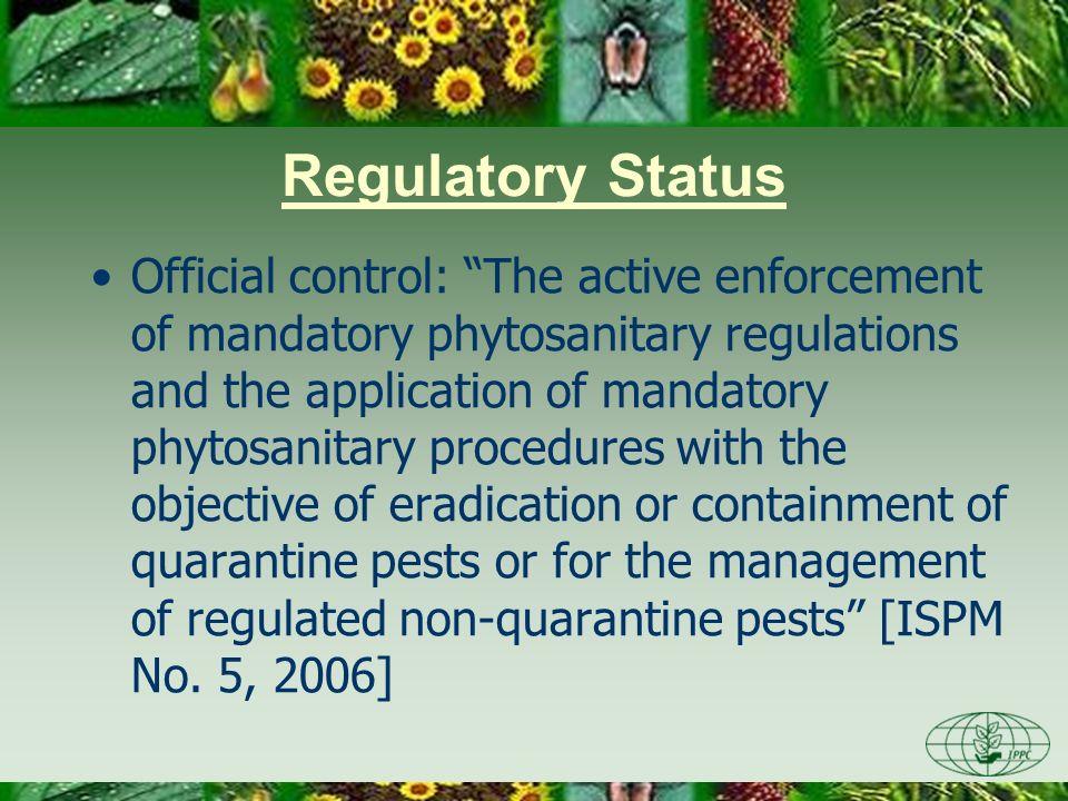 Day One 3/28/2017. Regulatory Status.