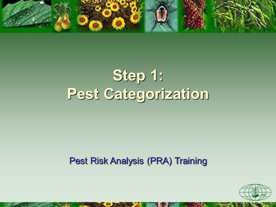 Step 1: Pest Categorization