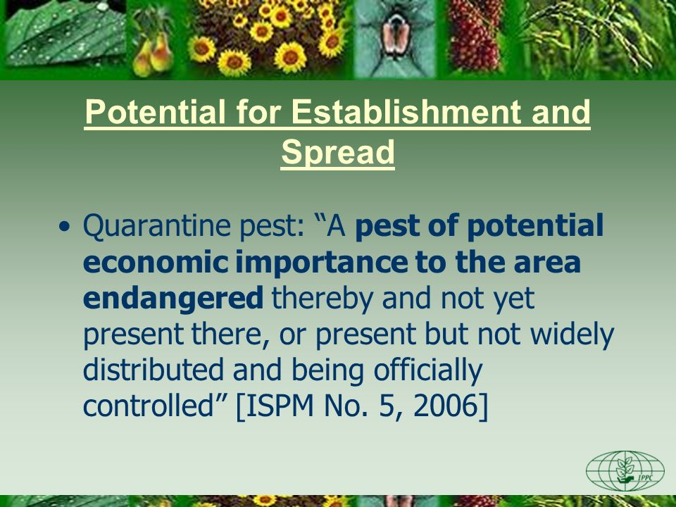 Potential for Establishment and Spread