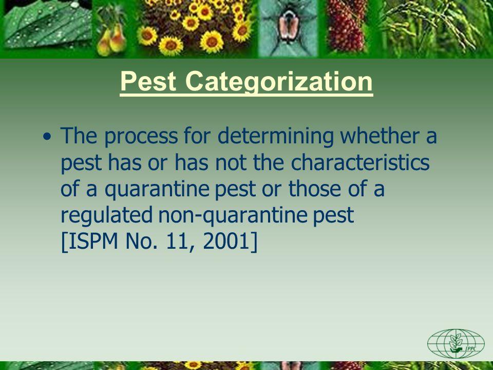 Day One 3/28/2017. Pest Categorization.