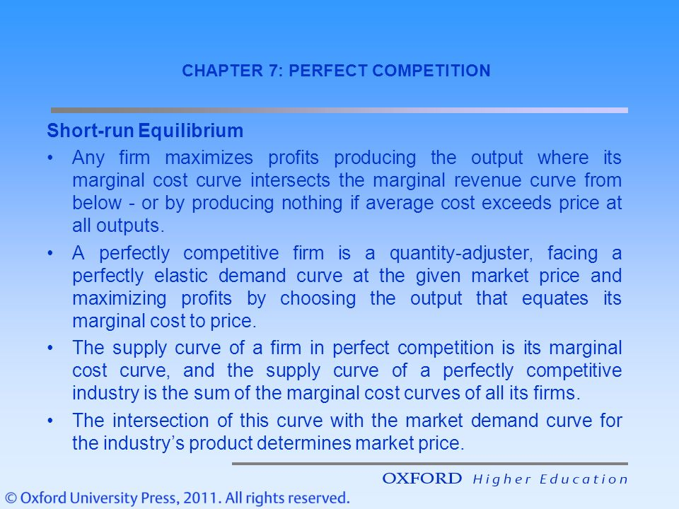 "marginal cost marginal revenue curves to illustrate maximum profits under perfect conditions Draw tvc curve 8 ""at producers' equilibrium marginal cost should be falling   4 find the level of output yielding maximum profit by mc and mr approach  output 1 2 3  what is the profit maximisation condition for perfect  competition."