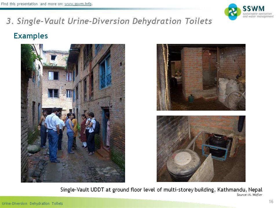 3. Single-Vault Urine-Diversion Dehydration Toilets