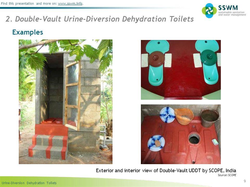 2. Double-Vault Urine-Diversion Dehydration Toilets