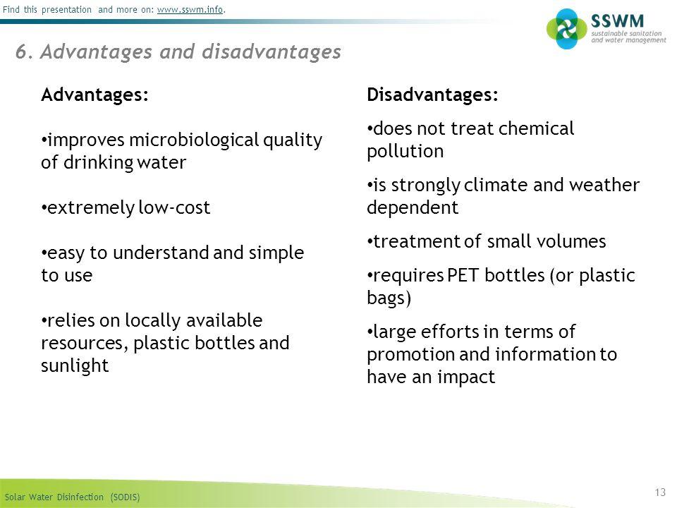 6. Advantages and disadvantages