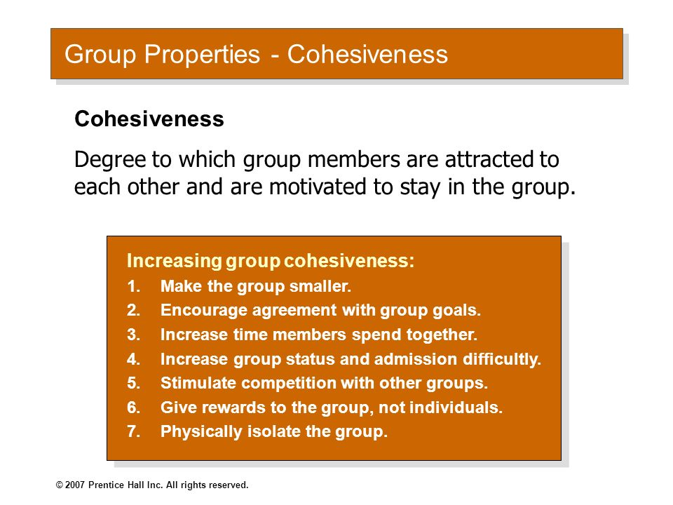 cohesion and performance in groups a Group cohesion (or cohesiveness) and its antecedents and consequences, locating a  cohesion was the most important determinant of group performance.