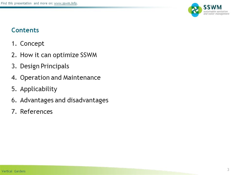 How it can optimize SSWM Design Principals Operation and Maintenance