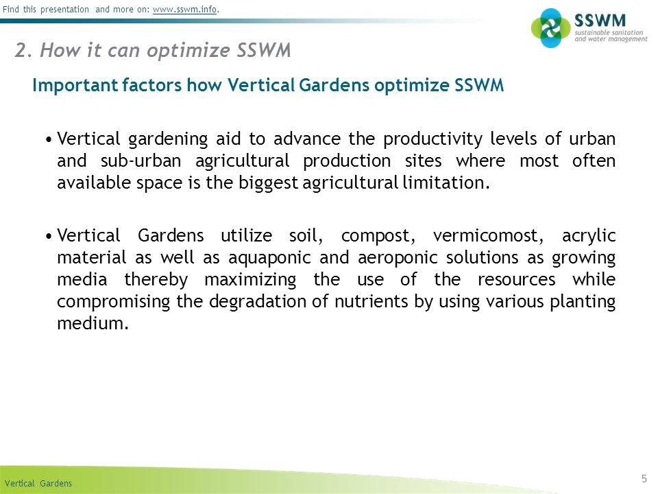 2. How it can optimize SSWM