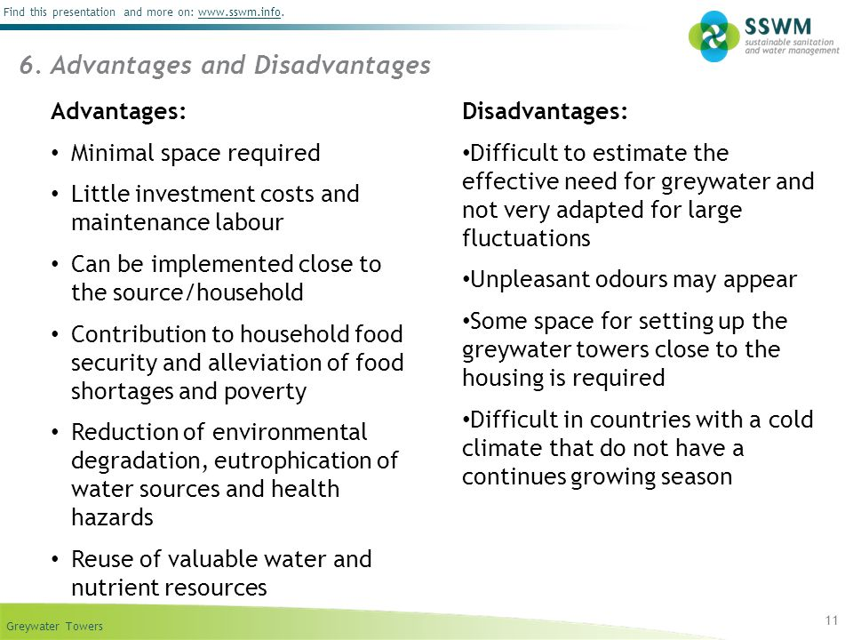 6. Advantages and Disadvantages