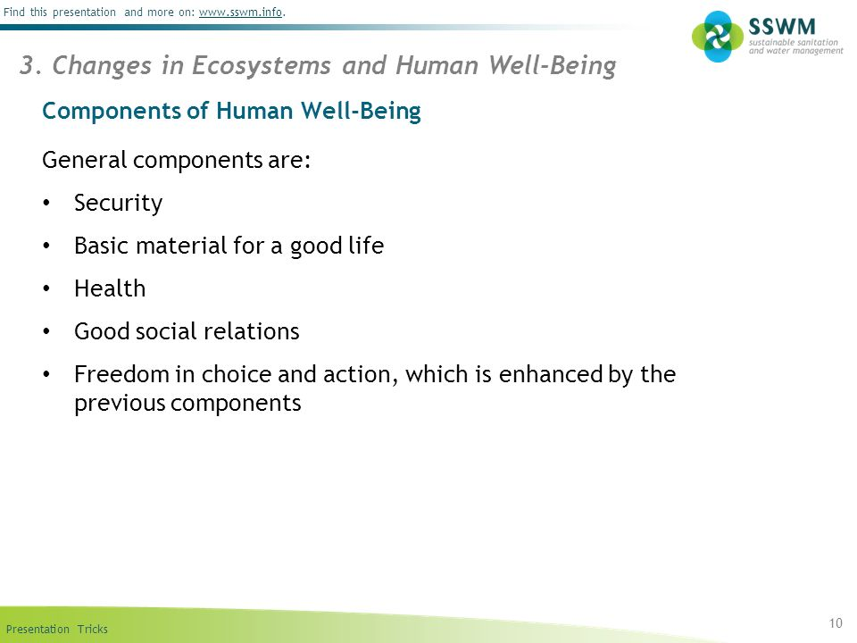 Components of Human Well-Being